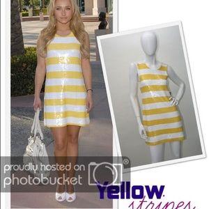 Alice + Olivia Dresses - Alice and Olivia Striped Sequin Dress